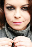 Γυναίκα με τις λεπτές ρυτίδες στοκ εικόνα με δικαίωμα ελεύθερης χρήσης