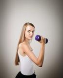 Γυναίκα με τον αλτήρα Στοκ φωτογραφία με δικαίωμα ελεύθερης χρήσης