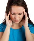 Γυναίκα με τον πονοκέφαλο Στοκ φωτογραφία με δικαίωμα ελεύθερης χρήσης
