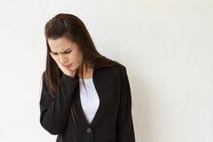 Γυναίκα με τον πονόδοντο Στοκ Φωτογραφίες