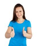 Γυναίκα με τους αντίχειρες επάνω Στοκ φωτογραφία με δικαίωμα ελεύθερης χρήσης