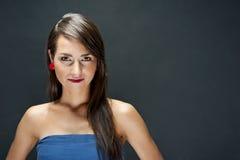 Γυναίκα με το αισθησιακό χαμόγελο Στοκ Εικόνες