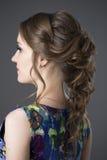Γυναίκα με το βράδυ hairstyle στοκ εικόνες με δικαίωμα ελεύθερης χρήσης