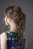 Γυναίκα με το βράδυ hairstyle στοκ εικόνα