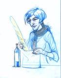Γυναίκα με το γαλλικό ψωμί Στοκ φωτογραφία με δικαίωμα ελεύθερης χρήσης