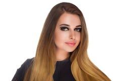 Γυναίκα με το θαυμάσιο makeup Στοκ Φωτογραφία