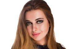 Γυναίκα με το θαυμάσιο makeup Στοκ εικόνα με δικαίωμα ελεύθερης χρήσης