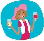 Γυναίκα με το κρασί Στοκ Εικόνα