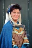 Γυναίκα με το μεσαιωνικό κοστούμι Στοκ φωτογραφίες με δικαίωμα ελεύθερης χρήσης
