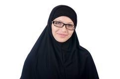 Γυναίκα με το μουσουλμανικό burqa Στοκ φωτογραφία με δικαίωμα ελεύθερης χρήσης