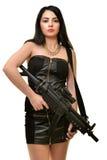 Γυναίκα με το πυροβόλο όπλο Στοκ Φωτογραφίες