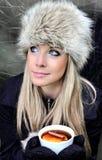 Γυναίκα με το φλυτζάνι του τσαγιού Στοκ φωτογραφία με δικαίωμα ελεύθερης χρήσης