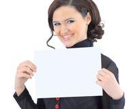 Γυναίκα με το χαμόγελο σχεδίων εργασίας. Στοκ Φωτογραφία