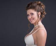 Γυναίκα με το hairdo βραδιού στοκ εικόνες