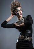 γυναίκα με το makeup Steampunk Στοκ φωτογραφία με δικαίωμα ελεύθερης χρήσης