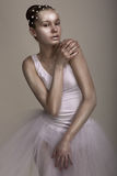 Extravagance. Απόδοση. Στιλπνή γυναίκα με φωτεινό καφετή - ασημένιο Makeup στοκ εικόνα