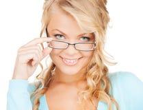 Γυναίκα με eyeglasses Στοκ φωτογραφίες με δικαίωμα ελεύθερης χρήσης