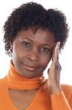 γυναίκα μορίων πονοκέφαλου Στοκ Εικόνες