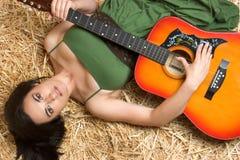 γυναίκα μουσικής στοκ εικόνες