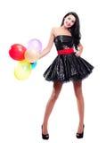 γυναίκα μπαλονιών Στοκ φωτογραφίες με δικαίωμα ελεύθερης χρήσης