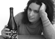 γυναίκα μπουκαλιών Στοκ φωτογραφίες με δικαίωμα ελεύθερης χρήσης