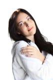 γυναίκα μπουρνουζιών Στοκ φωτογραφία με δικαίωμα ελεύθερης χρήσης