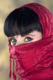 γυναίκα μυστηρίου Στοκ φωτογραφία με δικαίωμα ελεύθερης χρήσης