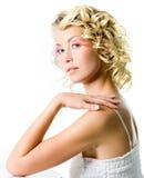 Γυναίκα μόδας με τη γοητεία makeup στοκ εικόνες