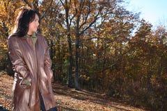 γυναίκα μόδας πτώσης προκλητική υπαίθρια Στοκ Εικόνες