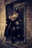 γυναίκα ξιφών Στοκ Φωτογραφία
