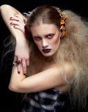 Γυναίκα ομορφιάς αποκριών makeup Στοκ φωτογραφίες με δικαίωμα ελεύθερης χρήσης
