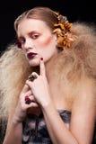 Γυναίκα ομορφιάς αποκριών makeup Στοκ φωτογραφία με δικαίωμα ελεύθερης χρήσης