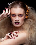 Γυναίκα ομορφιάς αποκριών makeup Στοκ Φωτογραφία