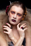 Γυναίκα ομορφιάς αποκριών makeup Στοκ Εικόνες