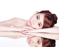 Γυναίκα ομορφιάς Skincare Στοκ Φωτογραφία