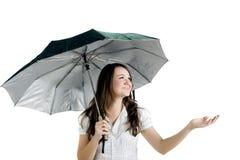 γυναίκα ομπρελών Στοκ Εικόνα