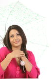 γυναίκα ομπρελών Στοκ εικόνα με δικαίωμα ελεύθερης χρήσης
