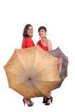γυναίκα ομπρελών στοκ εικόνες