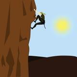 γυναίκα ορειβατών Στοκ Εικόνες