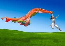 γυναίκα ουράνιων τόξων Στοκ εικόνα με δικαίωμα ελεύθερης χρήσης