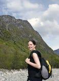 γυναίκα οδοιπόρων Στοκ εικόνα με δικαίωμα ελεύθερης χρήσης