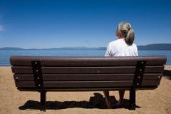 γυναίκα πάγκων Στοκ Φωτογραφίες