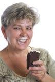 γυναίκα πάγου κρέμας Στοκ Φωτογραφίες