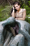 γυναίκα πάρκων Στοκ εικόνα με δικαίωμα ελεύθερης χρήσης