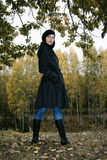 γυναίκα πάρκων 4 φθινοπώρο&upsil Στοκ φωτογραφία με δικαίωμα ελεύθερης χρήσης