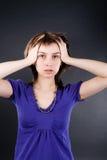 γυναίκα πίεσης στοκ φωτογραφία με δικαίωμα ελεύθερης χρήσης