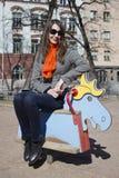 γυναίκα παιδικών χαρών Στοκ εικόνα με δικαίωμα ελεύθερης χρήσης