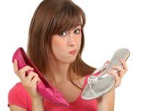 γυναίκα παπουτσιών στοκ εικόνα