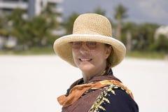 γυναίκα παραλιών στοκ φωτογραφίες