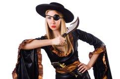 γυναίκα πειρατών κοστο&upsilo Στοκ φωτογραφία με δικαίωμα ελεύθερης χρήσης
